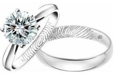 My dream ring... Plus we can engrave each other's finger prints on the inside of the rings... Love this!
