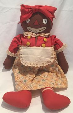 Vintage BELOVED BELINDY Raggedy Ann & Andy Mammy Doll Georgene Novelties 1938