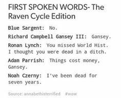 the raven cycle | trc | blue sargent | richard campbell gansey III | ronan lynch | adam parrish | noah czerny