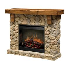 Buy the Dimplex undefined undefined Direct. Shop for the Dimplex undefined undefined Fieldstone Self-Trimming Electric Fireplace with Rustic Mantel and save. Rustic Fireplaces, Faux Fireplace, Fireplace Inserts, Fireplace Design, Wall Fireplaces, Fireplace Ideas, Rustic Mantel, Fireplace Cover, Craftsman Fireplace