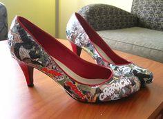 Comic book heels