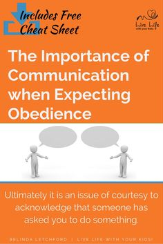 Communication, both ways, is important if obedience is going to be a part of your family value system. Includes bonus Cheat Sheet to help talk through the issue of obedience with teenagers.