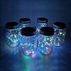 Make Stunning Mason Jar Solar Lights - Mason Jar Solar Lights, Mason Jar Lanterns, Hanging Mason Jars, Blue Mason Jars, Mason Jar Lids, Mason Jar Lighting, Jar Lights, Diy Hanging, Mason Jar Crafts