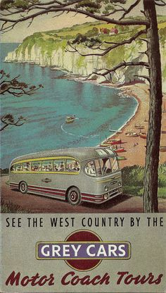 See the West Country by the Grey Cars - brochure, c. 1950s