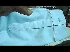 tutorial menjahit belahan manset kemeja pria - YouTube