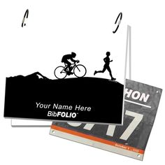 Triathlon BibFOLIO: this could be cool to make or purchase. For any type of racer/walker :)
