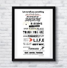 Rocky Balboa movie quote, motivational quotes, art print, inspirational art, boxing quotes, Quote Art, Art Prints Quotes, Art Quotes, Inspirational Posters, Motivational Quotes, Rocky Balboa Movie, Boxing Quotes, Iconic Movies, Last Minute Gifts
