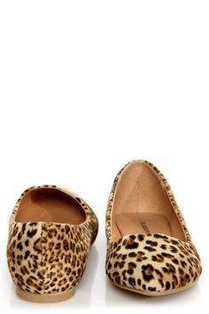 The perfect basic cheetah flat: City Classified Sadler Tan Cheetah Pointed Flats