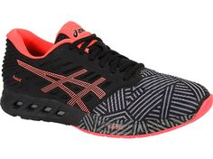 Versatile and polished, the fuzeX™ provides optimal cushioning with a contemporary appeal.  Introducing ASICS newest midsole technology, our proprietary fuzeGEL™ is a fusion of GEL® property and foam for the ultimate rearfoot shock absorption that transfers to the forefoot during take off.   This exciting addition offers a unique ride with full ground contact and a quick responsiveness to keep you moving. Weight: 8.4. Heel Height: 19mm. Forefoot Height: 11mm.