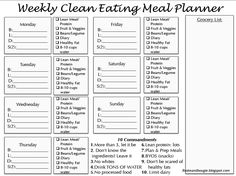 Clean Eating Meal Planner Printable that has checklists of all the food groups for each day! Plus lots of other printables to keep on the fridge for clean eating