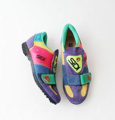 1980's Neon SIDI Cycling Shoes