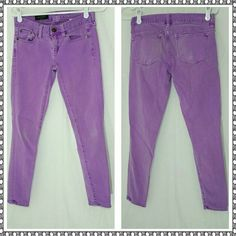 J.CREW TOOTHPICK PURPLE JEANS 24 ANKLE Cute jeans. Size says 24 ankle.  Made of cotton, rayon, and elastane.  Good condition.  Slight wear. J. Crew Jeans Skinny Purple Jeans, Cute Jeans, Fashion Tips, Fashion Design, Fashion Trends, Jeans Size, J Crew, Skinny Jeans, Ankle