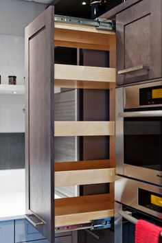 wood slideout racks #kitchen #cabinets #pullouts