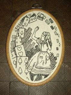 crosshatching kung fu alice embroidery