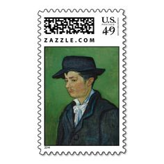 Armand Roulin by Vincent Van Gogh Stamp