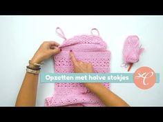 Mara zomervest haken - CreaChick Crochet Stitches, Knit Crochet, Crochet Hats, Crochet Fashion, Crochet Clothes, Fingerless Gloves, Arm Warmers, Sewing Projects, Knitting