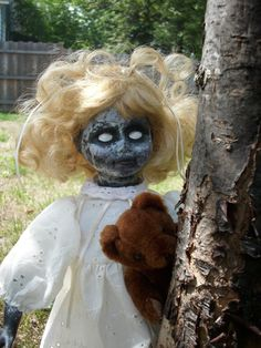 GeorgeAnne the ghost girl doll by ZombieMommy74 on Etsy, $70.00