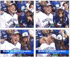 Cory Monteith and Lea Michele at the Canucks Game Wednesday, May 1st. How cute are they!! <3 #monchele