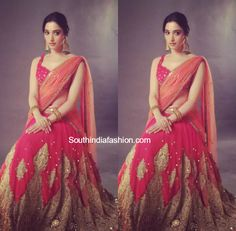 Tamannaah Bhatia in a half saree – South India Fashion India Fashion, Women's Fashion, Ladies Fashion, Fashion Trends, Gold Mangalsutra Designs, Indian Ethnic Wear, Indian Style, Bridal Blouse Designs, Lehenga Designs