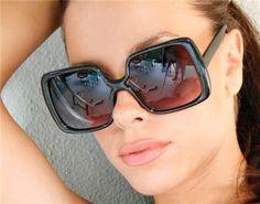 70's Vintage Retro Square Xxl Oversized Jackie O Women Brown Tortoise Sunglasses