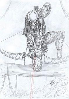 predator vs jason coloring pages - photo#37