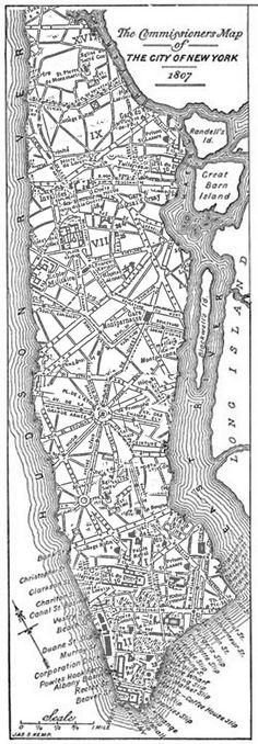 What if Manhattan was designed like Paris? It illustrates the practicality of the grid system, which was the most impressive instance of long-term city planning in history.