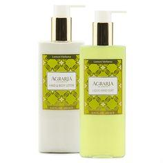 Agraria Lemon Verbena Hand & Body Lotion and Liquid Hand Soap Combo