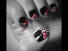 Simple Hello Kitty Nail Art   #diy #nail #designs