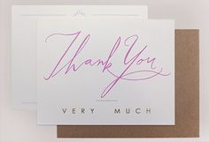 Thank You Note Card #notecard #thankyou #goldfoil
