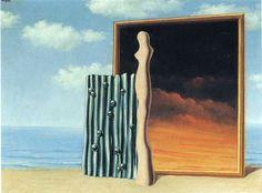 Composición en una orilla del mar - Rene Magritte · 1935