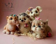 Happy hedgehog and friends
