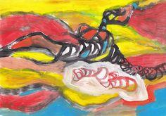 acrilic and watercolor on paper Monica Cella