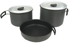Pin it! :)  Follow us :))  zCamping.com is your Camping Product Gallery ;) CLICK IMAGE TWICE for Pricing and Info :) SEE A LARGER SELECTION of camping pots and pans at http://zcamping.com/category/camping-categories/camping-cooking-and-food/camping-pots-and-pans/ - hunting,  camping pots, camping pans, kitchen utensils, camping kitchen utensils, camping essentials, camping, camping gear -   Chinook Ridge Lightweight, Durable Hard Anodized Non-stick Cookset, XL « zCamping.com
