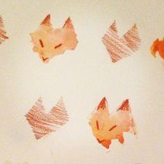 fox pattern : Illustration sketch