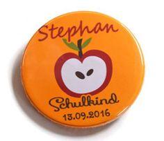 Button Schulkind 2016 Apfel