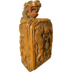 Carved Figural Snuff Box from Antiques of River Oaks on Ruby Lane $2,995 - Questions Call: 713-961-3333