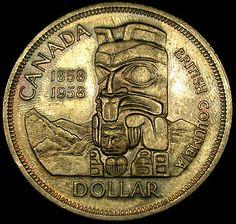 1958 Canada SILVER DOLLAR Totem Pole Cursed Death Dollar! UNCIRCULATED GEM