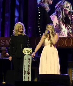 "Lauren Alaina invited her mother Kristy on the Grand Ole Opry stage to sing ""Like My Mother Does"". (April 21, 2015)"