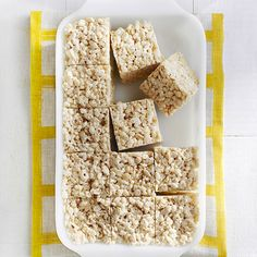 Need a dessert fast? It takes only 30 minutes to make these yummy treats.  Recipe: Brown Butter Crispy Treats   - Cosmopolitan.com