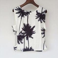 Palm Tree Print Tank Top