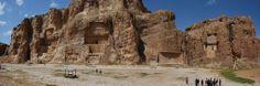 Naqsh-e Rostam Royal Tombs, Iran.  Artaxerxes(465-424 BCE), Xerxes I (485-465 BCE), Darius I (521-485 BCE) and Darius II (425-405 BCE)