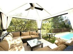 covered area near pool with fan 3880 Alta Mesa Dr, Studio City, CA