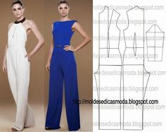 Free jumpsuit pattern in a size 38 /Moldes Moda por Medida