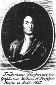 "Friedrich Hoffmann (1660 - 1742 https://pinterest.com/pin/287386019948586593). Dr. Hoffmann was a German physician and professor of medicine who introduced ether into medicine under the brand name Anodyne. ""Hoffmann's anodyne"" or compound spirit of ether also contained ethyl alcohol. It was used to treat intestinal cramps, earache, toothache, kidney stones, gallstones, painful menstruation and much else besides."