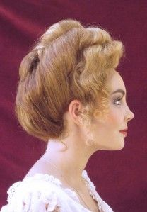 gibson girl hair - will restyle. Wig and hit pieces  to follow this with lower front for hat
