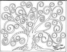 RUG HOOK Crafts PAPER PATTERN Bountiful Tree FOLK ART Abstract Primitive KARLA G in Crafts | eBay