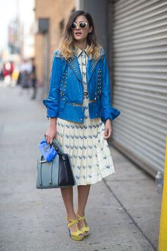 Take a cue from these warm weather looks- the best of New York's spring street style.