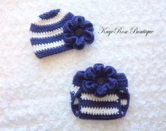 Pañal y el bebé recién nacido niña sombrero de por Sockmonkey7
