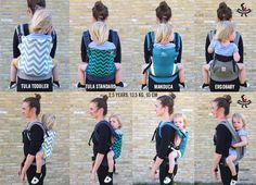 Toddler Comparison Tula Toddler / Tula Standard / Manduca / Ergobaby