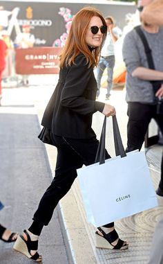 Julianne Moore from Cannes Film Festival 2017: Star Sightings  The stunning Oscar winner steps out for some last-minute shopping along the French Riviera.